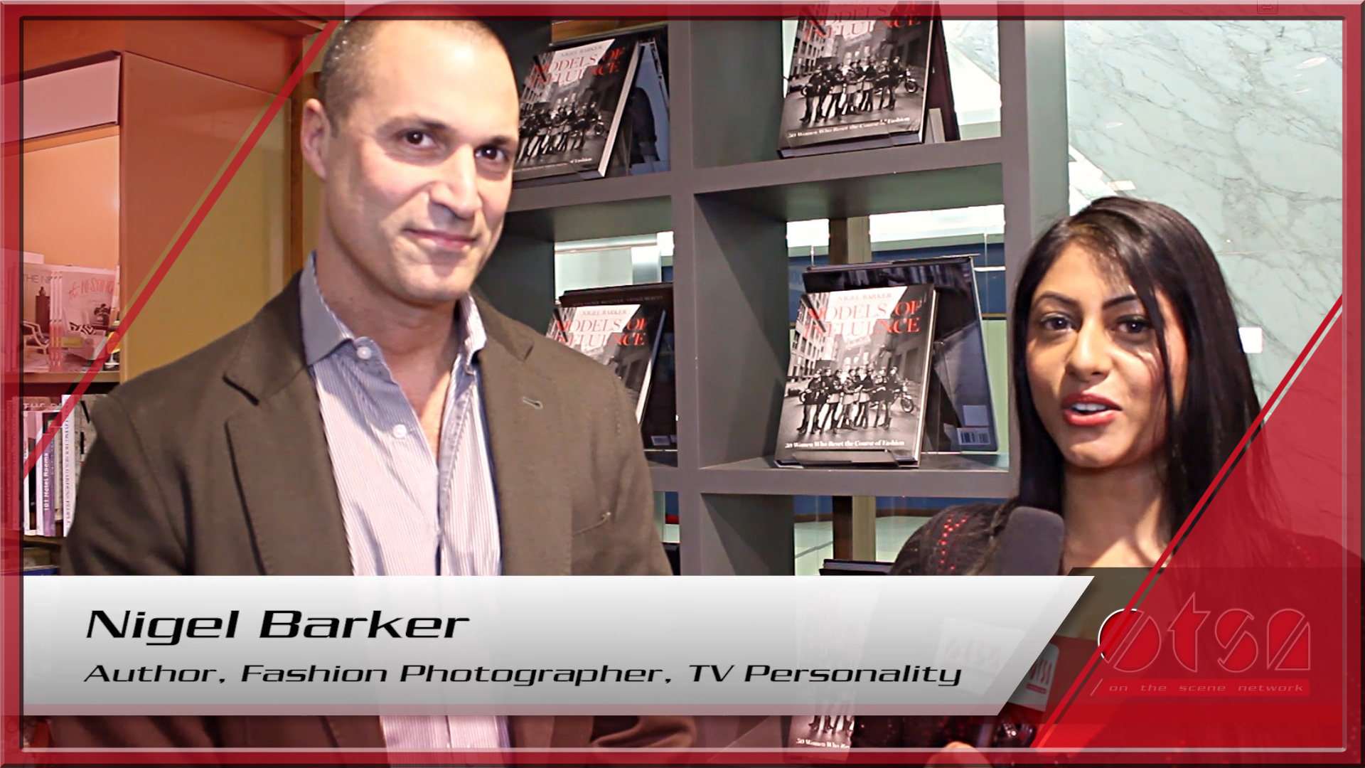 "Nigel Barker interview about his new book ""Models of Influence"""