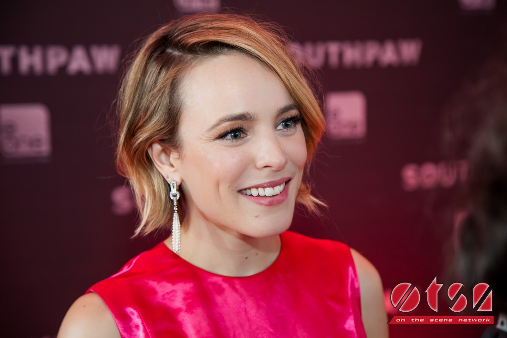 Rachel McAdams at the Canadian premiere of SOUTHPAW