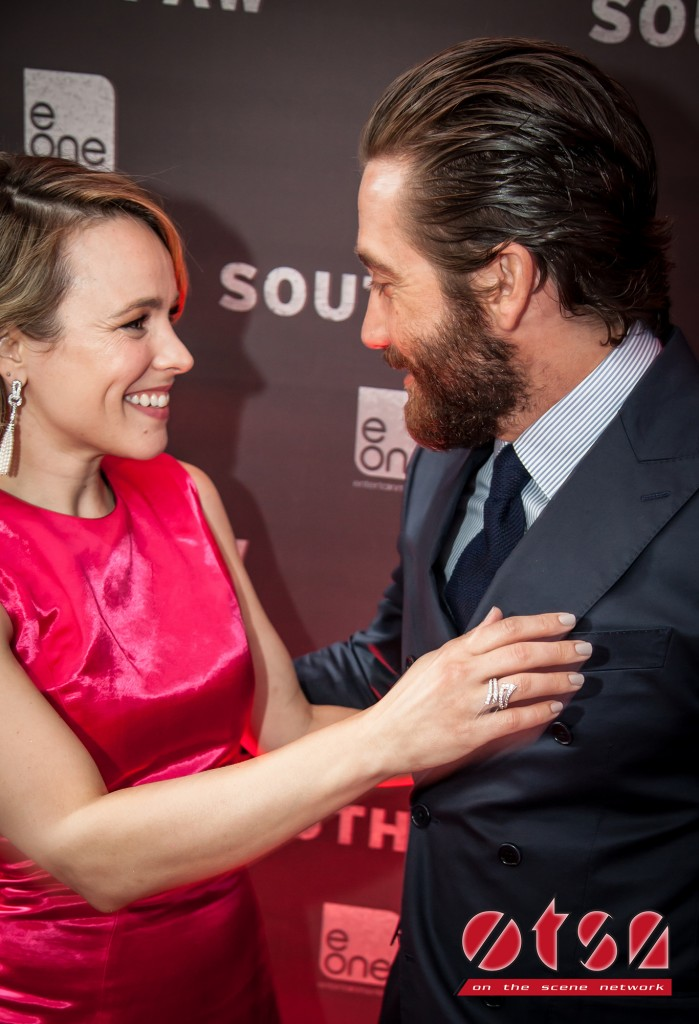 Jake Gyllenhaal and Rachel McAdams at the Canadian premiere of SOUTHPAW