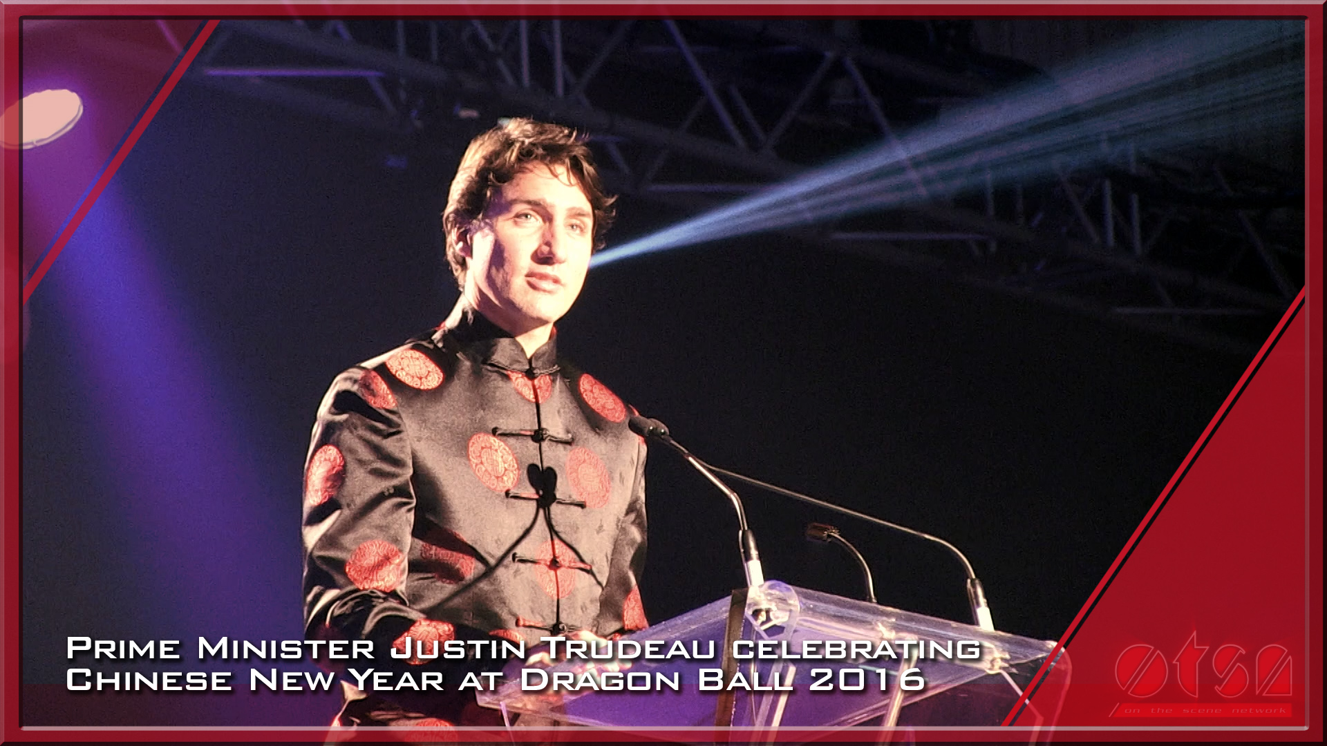 Justin Trudeau celebrating Chinese New Year at Dragon Ball 2016