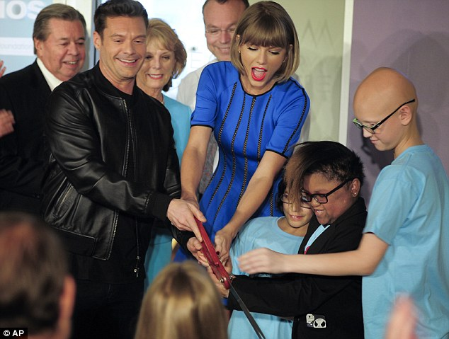 Ryan Seacrest Opens Studio at Children's Hospital with Surprise Guest Taylor Swift